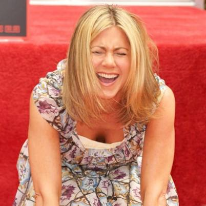 Jennifer Aniston Laughing at Brangelina